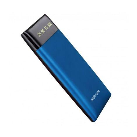Astrum PB540 Power Bank 6000MAH LED kijelzővel kék színben