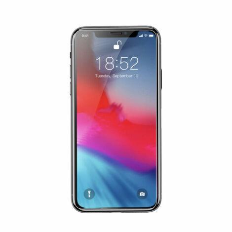 Baseus iPhone Xs Max 0.3 mm Teljes kijlezős lekerekített Edzett üveg kijelzővédő - Átlátszó (SGAPIPH65-ES02)