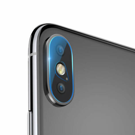 Baseus iPhone Xs Max 0.2mm Kamera objektív lencse védő edzett üveg védőfólia (SGAPIPH65-JT02)