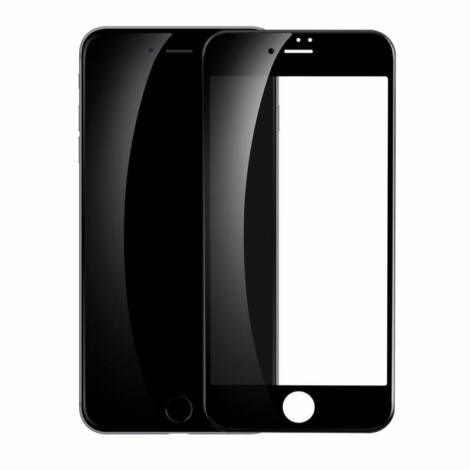 Baseus iPhone 8/7 All-screen teljes képernyős 0.23mm edzett üveg kijelzővédő fólia - fekete (SGAPIPH8N-PE01)