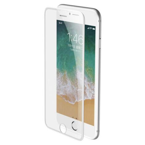 Baseus iPhone 8/7/6 0.23 mm Lekerekített Edzett üveg (hangszóró por szűrővel) - Fehér (SGAPIPH8N-WA02)