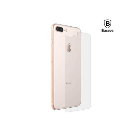 Baseus iPhone 8/7 Plus 0.3 mm Edzett üveg hátlap védő - Átlátszó (SGAPIPH8P-BM02)