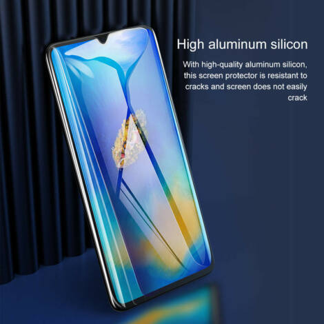 Baseus Huawei Mate 20X 0.3 mm Teljes képernyős Edzett üveg Kijelzővédő fólia Fekete (SGHWMATE20X-KA01)