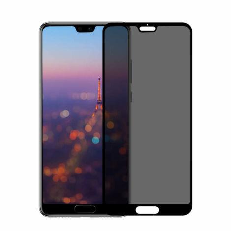 Baseus Huawei P20 0.3 mm Anti-spy lekerekített Edzett üveg kijelzővédő fólia Fekete(SGHWP20-TG01)