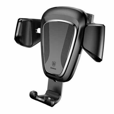 Baseus Gravity univerzális szellőzőre erősíthető autós telefontartó fekete színben (SUYL-01)
