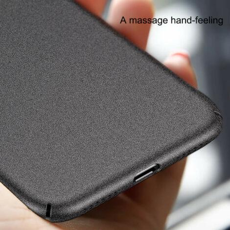 Baseus iPhone X Meteorite műanyag védőtok tok Fekete (WIAPIPHX-YU01)