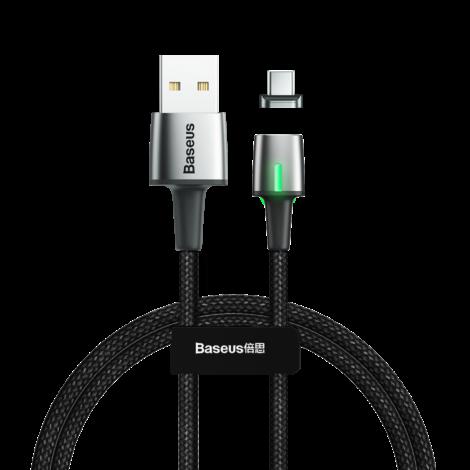 Baseus Mágneses USB-C Adat- és töltőkábel 1m - Fekete (CATXC-A01)