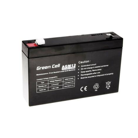 Green Cell AGM Zselés akkumulátor 6V 7Ah