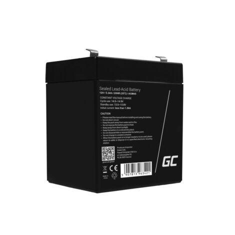 Green Cell AGM akkumulátor/akku 12V 5.3Ah