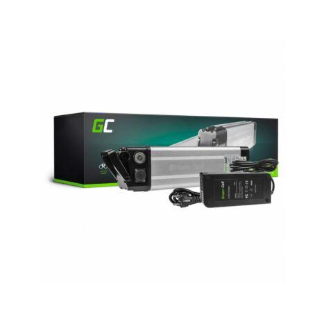 Green Cell Elektromos kerékpár akkumulátor 24V 8.8Ah Silverfish Type E-Bike Pedelec töltővel