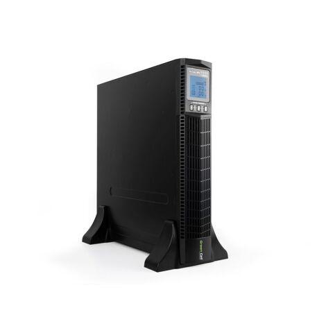 Green Cell UPS Szünetmentes tápegység Online RTII 1000VA LCD kijelző