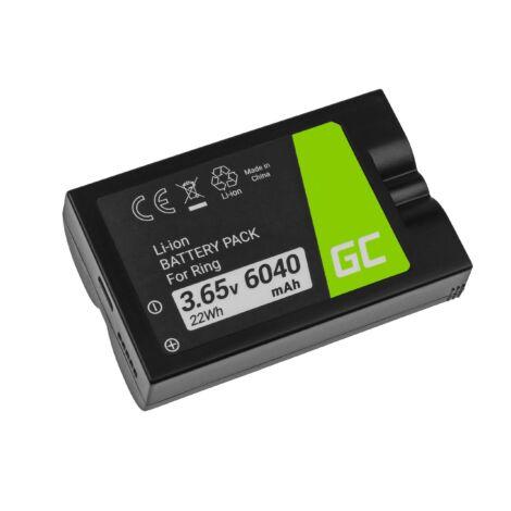 Green Cell Digitális kamera akkumulátor RING Video Doorbell 2, Doorbell 3, Doorbell 3 Plus 3.65V 6040mAh