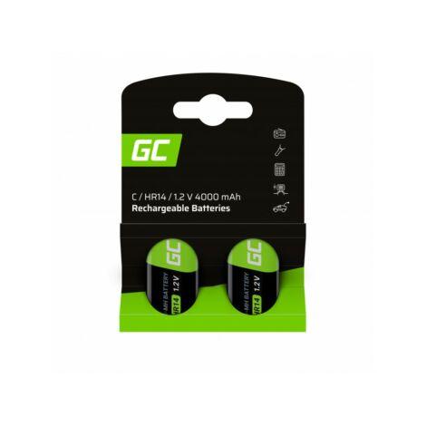Green Cell akkumulátor 2x C R14 HR14 Ni-MH 1.2V 4000mAh