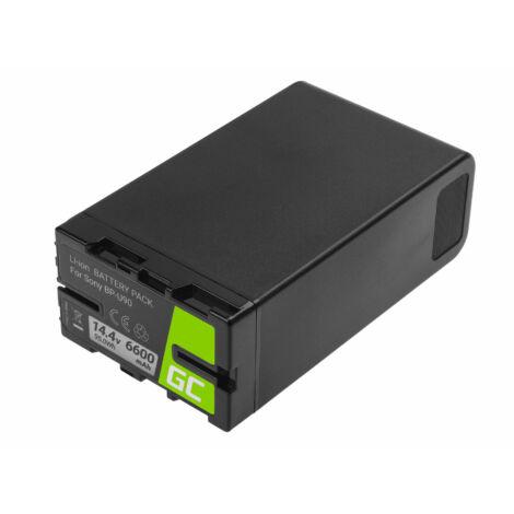 Green Cell Digitális kamera akkumulátor BP-U90 BP-U60 BP-U30 Sony 6600mAh 95Wh 14.4V