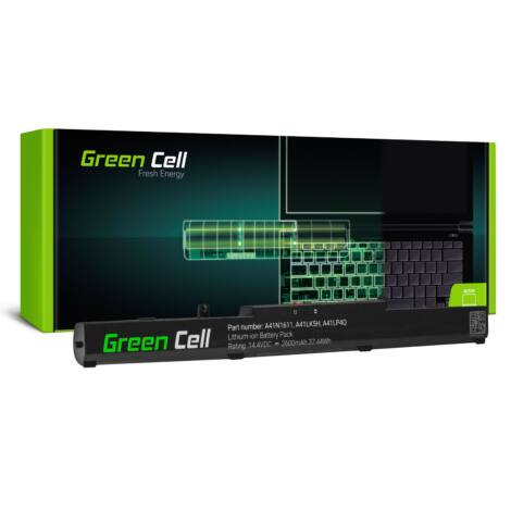 Green Cell Laptop akkumulátor A41N1611 Asus GL553 GL553V GL553VD GL553VE GL553VW GL753 GL753V GL753VD GL753VE FX553V FX753 FX753V