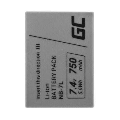 Green Cell Digitális kamera akkumulátor NB-7L NB7L Canon PowerShot G10, G11, G12, SX30 IS 7.4V 750mAh