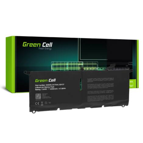 Green Cell Laptop akkumulátor DXGH8 Dell XPS 13 9370 9380, Dell Inspiron 13 3301 5390 7390, Dell Vostro 13 5390