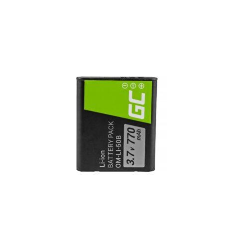 Green Cell Digitális Kamera akkumulátor Olympus SZ-15 Kemény 6000, 8000, TG-820, TG-830, TG-850 3.7V 770mAh, SZ-16,