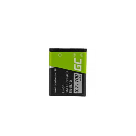 Green Cell Digitális Kamera akkumulátor Nikon Coolpix S60 S200, S210, S220, S500, S520, S3000 3.7V 700mAh, S80