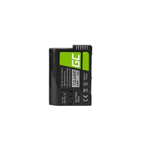 Green Cell Digitális Kamera akkumulátor Nikon D850, D800, D750, D7500, D7200, D7100, D610, D600 7.0V 1900mAh, D810,