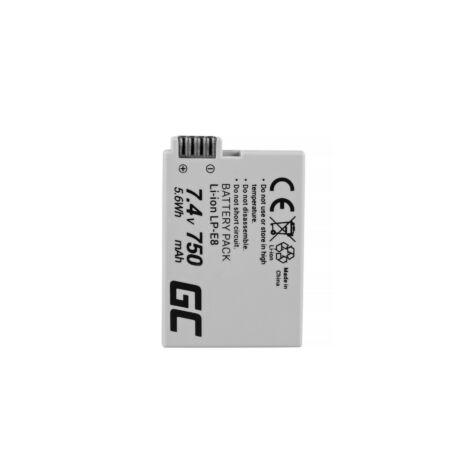 Green Cell Digitális Kamera akkumulátor Canon EOS Rebel T2i T4i, T5i, EOS 600D, 550D, 650D, 700D 7.4V 750mAh, T3i,