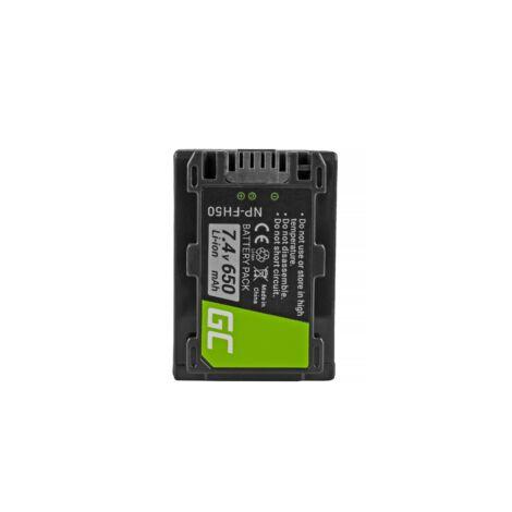 Green Cell Digitális Kamera akkumulátor Sony DCR-HC45 DCR-SR70, DCR-SX50E 7.4V 650mAh, DCR-SR300E