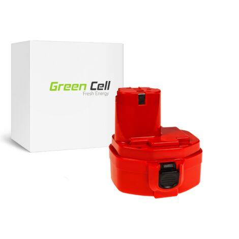 Green Cell Kéziszerszám akkumulátor Makita 1420 1433 1434 4033D 4332D 6228D 6337D 14.4V 3Ah