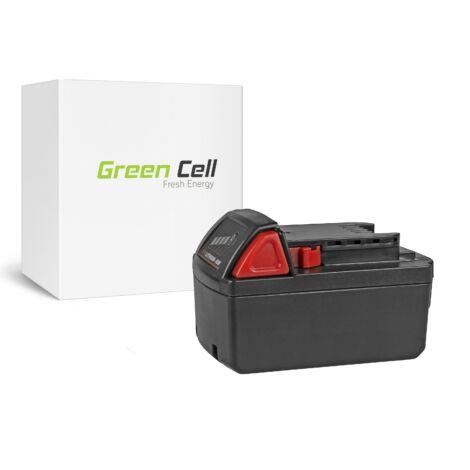 Green Cell Kéziszerszám akkumulátor Milwaukee M18 C18B 982-2 18V 5Ah