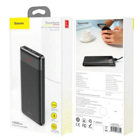 Baseus Mini Cu Power Bank 10000mAh Fekete (PPALL-AKU01)