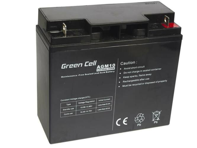 Green Cell AGM zselés akkumulátor 12V 20Ah